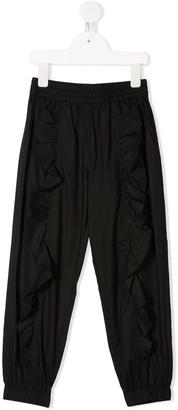 MonnaLisa Ruffle Trim Track Pants