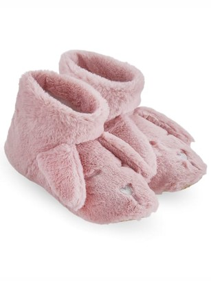 Hue Plush Critter Bunny Bootie Slippers