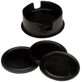Royce Leather Round Coasters in Case (Set of 6)
