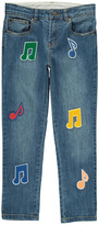 Stella McCartney Lohan Music Note Boyfriend Jeans