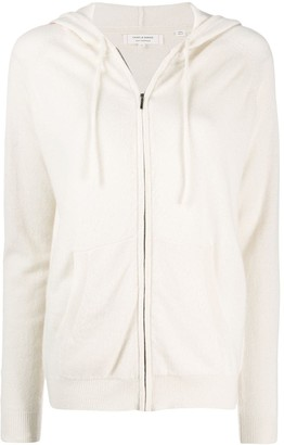 Chinti and Parker Contrast Stripe Cashmere hoodie