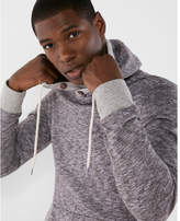 Express marled crossover hoodie