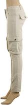 Max Studio Stretch Linen Cargo Trousers