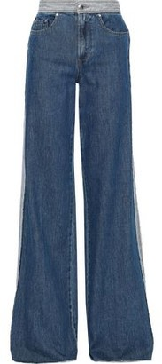 RED Valentino Frayed High-rise Wide-leg Jeans