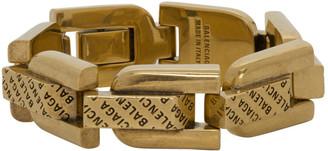 Balenciaga Gold Precious Logo Link Bracelet