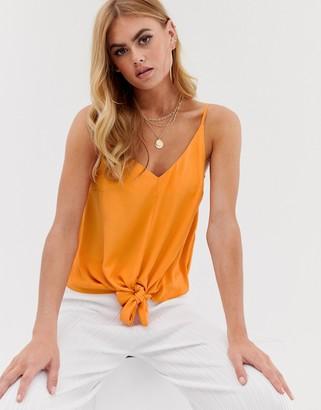 Asos Design DESIGN knot front cami-White