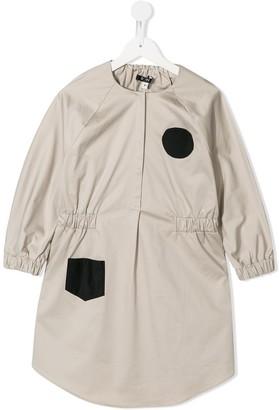 Owa Yurika Contrast Details Dress