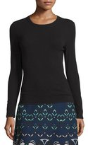 M Missoni Long-Sleeve Crewneck Wool-Blend Pullover, Black