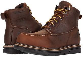 Wolverine I-90 DuraShocks Moc-Toe 6 Work Boot (Brown) Men's Work Lace-up Boots