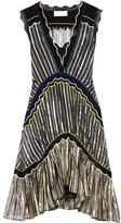 Peter Pilotto Silk Blend-trimmed Metallic Chiffon Dress - small