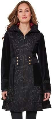 Joe Browns Elegant Jacquard Coat - Black