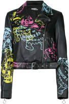 Jeremy Scott printed biker jacket