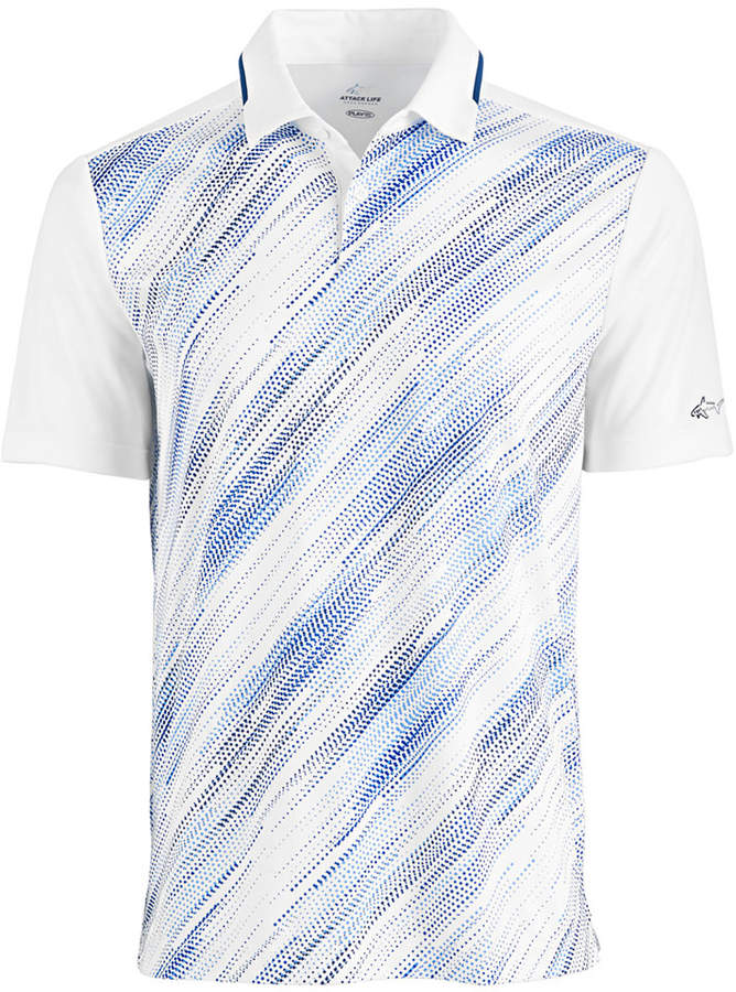 Greg Norman Attack Life by Printed Performance Polo