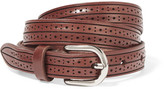 Isabel Marant Kaylee Laser-cut Leather Belt - Camel