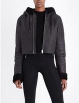 Yeezy Cropped shearling hoody