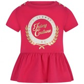 Juicy Couture Juicy CoutureFuchsia Collegiate Laurel Peplum Baby Top