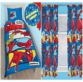 """Spiderman Webhead Single/US Twin Duvet Cover Set + Matching 54"""" Curtains"""