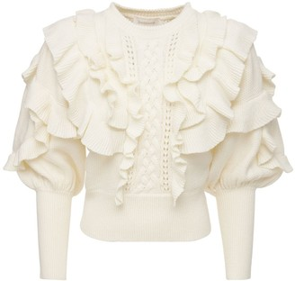 Zimmermann Botanica Cotton & Cashmere Crop Sweater