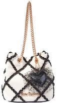 Betsey Johnson Cross Your Heart Chain Handle Shoulder Bag