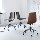 west elm Slope Leather Swivel Office Chair