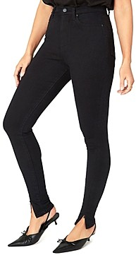 WeWoreWhat High Rise Ankle Zip Skinny Jeans in Jet