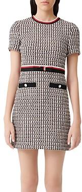 Maje Rivi Tweed Mini Dress