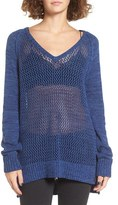 Roxy Women's Open Knit Cotton Pullover