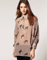 ASOS Tunic with Bird Print