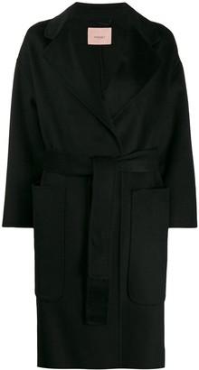 Twin-Set wrap-style midi coat