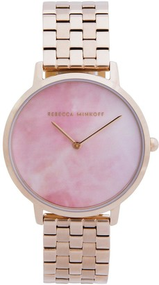 Rebecca Minkoff Blush Mother of Pearl Dial Rose Gold Stainless Steel Bracelet Ladies Watch