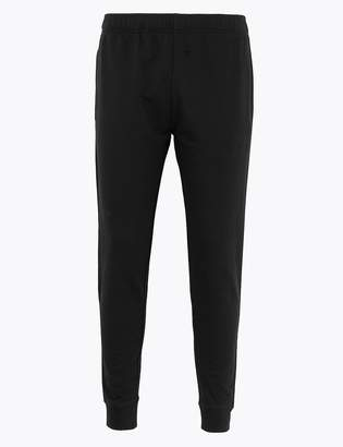 Marks and Spencer Cotton Rich Regular Cuffed Joggers