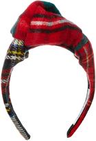 Benoit Missolin Diana tartan-wool headband