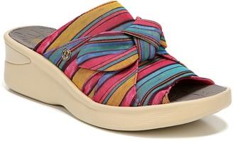 Bzees One Band Slip-On Sandals - Smile