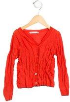Bonpoint Girls' Long Sleeve Button-Up Cardigan