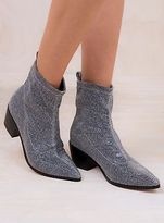 Therapy New Women's Silver Stretch Sparkle Blaze Boots
