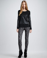 Theory Printed Skinny Jeans
