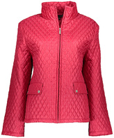 Persian Red Quilted Zip Front Rain Jacket - Plus