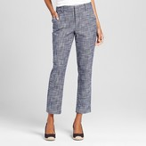 Merona Women's Tweed Classic Ankle Pant Navy