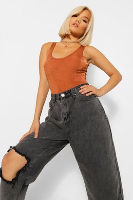 boohoo Petite Sleeveless Bodysuit