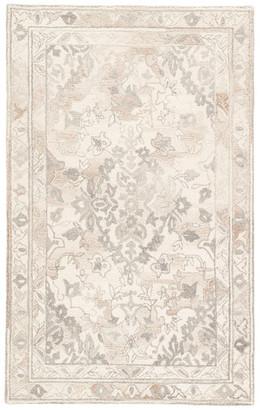 Jaipur Living Arabia Handmade Floral White/Gray Area Rug, 8'x10'