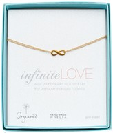 Dogeared 14K Gold Plated Sterling Silver Small Infinite Love Bracelet
