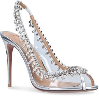 Aquazzura Temptation Crystal Sandals 105