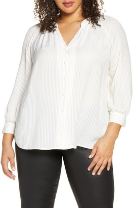 1 STATE 1.STATE Shadow Stripe Button-Up Top