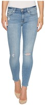 7 For All Mankind Ankle Skinny Jeans w/ Squiggle Destroy in Willow Ridge 2 Women's Jeans