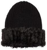 Ralph Lauren Faux Fur–Brim Hat
