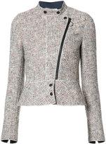 Akris Punto off centre zip tweed jacket - women - Cotton/Polyamide/Polyester/Viscose - 36