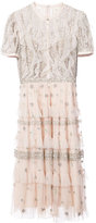 Needle & Thread sequin embroidered ruffled dress