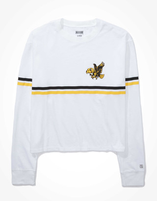 Tailgate Women's Iowa Hawkeyes Cropped Long-Sleeve T-Shirt