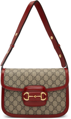Gucci Beige and Red 1955 Horsebit Bag