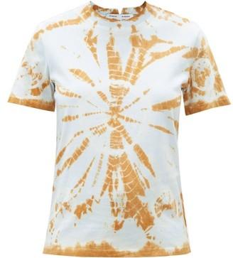 Proenza Schouler White Label Notched-nape Tie-dye Cotton-jersey T-shirt - Light Blue